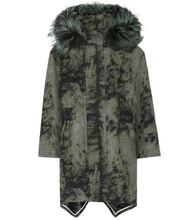 FENDI | Fur-trimmed wool coat | Clouty