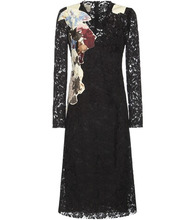 VALENTINO | Lace silk-blend dress | Clouty