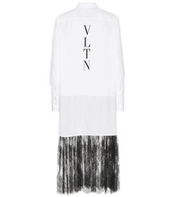 VALENTINO | Lace-trimmed shirt dress | Clouty