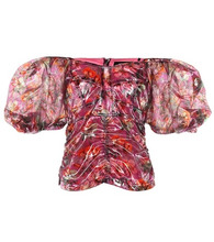 Isabel Marant | Orval floral lame top | Clouty