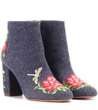 Aquazzura | Lotus 85 denim ankle boots | Clouty