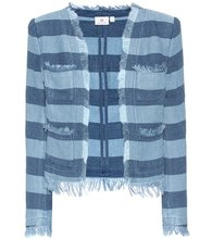 AG Jeans   The Capucine striped cotton jacket   Clouty