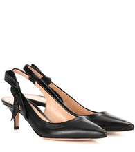Gianvito Rossi | Leather slingback pumps | Clouty