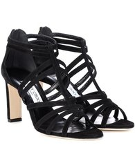 Jimmy Choo | Selina 85 suede sandals | Clouty