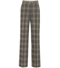 Acne Studios | Checked wool and cotton pants | Clouty