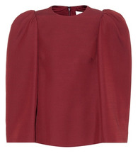 VALENTINO | Silk and wool-blend top | Clouty