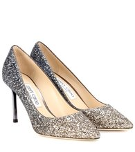 Jimmy Choo | Exclusive to Mytheresa – Romy 85 glitter pumps | Clouty
