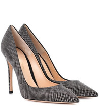 Gianvito Rossi | Lennox strass suede pumps | Clouty