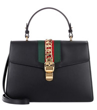 GUCCI | Sylvie embellished leather tote | Clouty
