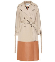 Loewe | Leather-trimmed trench coat | Clouty