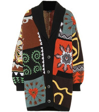 Etro | Oversized patchwork wool cardigan | Clouty