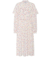 VALENTINO | Polka-dot stretch-silk dress | Clouty