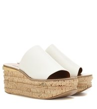 Chloé | Leather and cork wedges | Clouty