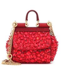 Dolce & Gabbana   Micro Sicily embellished shoulder bag   Clouty