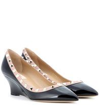 Valentino Garavani | Valentino Garavani Rockstud patent leather wedges | Clouty