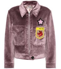 MIU MIU | Velvet beaded applique jacket | Clouty