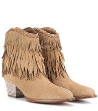 Aquazzura | Pocahontas Cowboy 45 suede ankle boots | Clouty