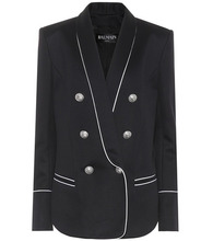 BALMAIN | Cotton-blend jersey blazer | Clouty