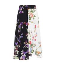 Isabel Marant | Inaya floral-printed silk skirt | Clouty