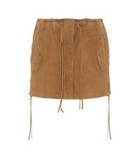 SAINT LAURENT   Suede miniskirt   Clouty