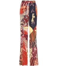 Etro | Printed satin wide-leg pants | Clouty