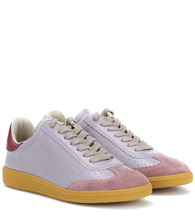 Isabel Marant   Bryce leather and suede sneakers   Clouty