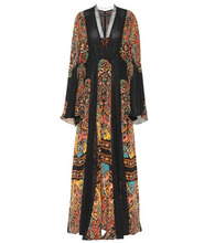 Etro | Printed silk maxi dress | Clouty
