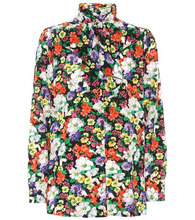 GUCCI   Floral-printed silk blouse   Clouty