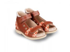 Tapiboo   Сандалии Tapiboo, детские коричневый/молочный/жираф, р.23   Clouty