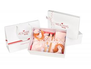 ME&PAMS | Набор подарочный Me&Pams для девочек Nora toddler twins, 10 предметов розовый, р.68-74 | Clouty