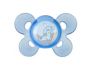 Chicco | Пустышка Chicco, Physio Comfort силиконовая 0-6 мес., Собачка голубой | Clouty