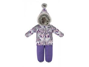 Reike | Комплект Reike для девочки (куртка+полукомбинезон) серый, р.104-56(28) | Clouty
