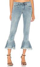 Blank NYC   Укороченные джинсы с рюшами - BLANKNYC   Clouty