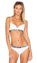 Calvin Klein   Бесшовный бюстгальтер с половинными чашками и логотипом - Calvin Klein Underwear   Clouty