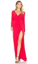 Donna Mizani | Вечернее платье с вышивкой и драпировкой линии шеи - Donna Mizani | Clouty