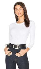 Enza Costa | Кашемировая футболка в рубчик с длинным рукавом - Enza Costa | Clouty
