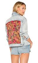 Free People | Стеганая джинсовая куртка с принтом пейсли - Free People | Clouty