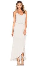 Krisa | Макси платье с рюшами - krisa | Clouty