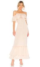 LPA | Вечернее платье с открытыми плечами tiered ruffle - LPA | Clouty