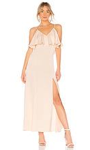 LPA | Вечернее платье с v-образным вырезом v neck ruffle - LPA | Clouty