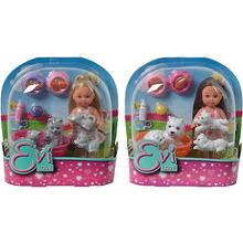 """Simba   Игровой набор с мини-куклой Simba """"Evi Love"""" Еви с домашними животными, в ассортименте   Clouty"""