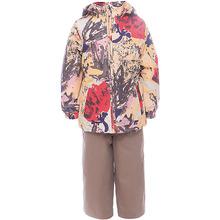 Huppa | Комплект: куртка и полукомбинезон для девочки YONNE Huppa | Clouty