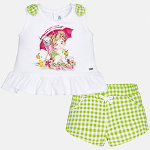 Mayoral | Комплект:шорты,блузка Mayoral для девочки | Clouty