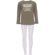 Original Marines | Костюм:футболка с длинным рукавом,лосины Original Marines для девочки | Clouty