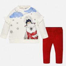 Mayoral | Комплект: футболка с длинным рукавом и леггины Mayoral для девочки | Clouty