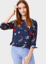 O'STIN | Блузка с оборкой | Clouty