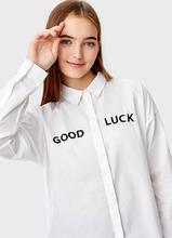 O'STIN | Свободная рубашка с вышивкой | Clouty