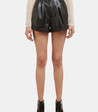 SAINT LAURENT | Leather Shorts | Clouty