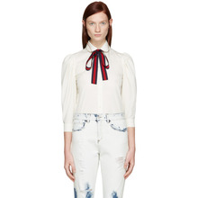 GUCCI | Gucci Ivory Ribbon Shirt | Clouty