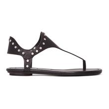 Jimmy Choo | Jimmy Choo Black Studded Dara Sandals | Clouty